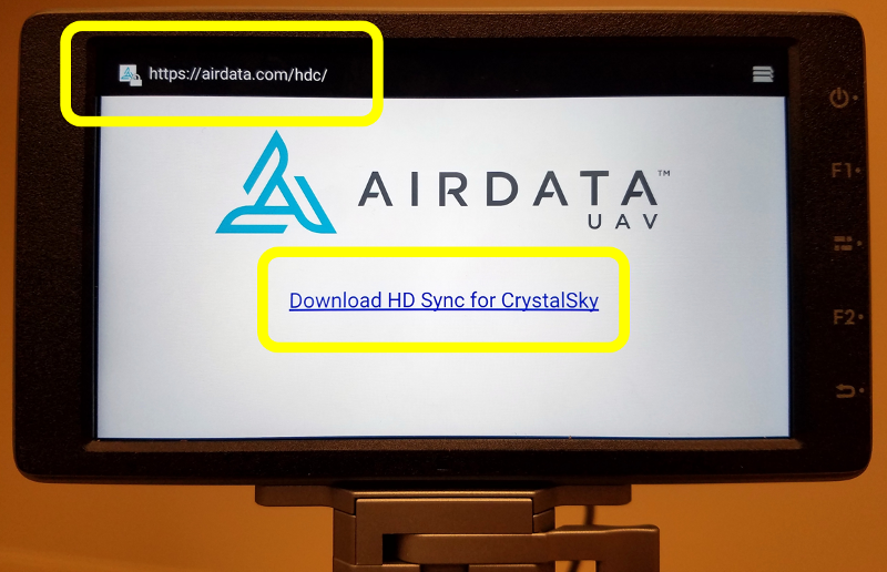 Airdata HD Sync App for DJI CrystalSky and SmartController