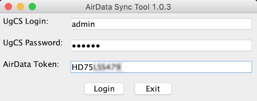 airdata sync tool login