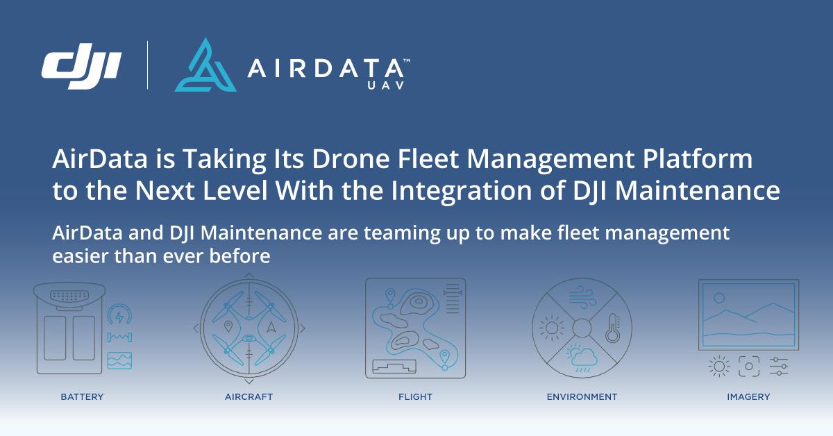 dji and airdata maintenance integration