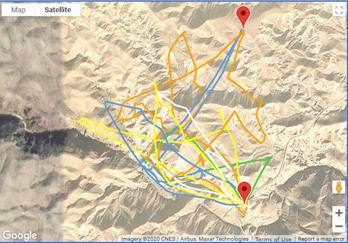 airdata group flight tracks