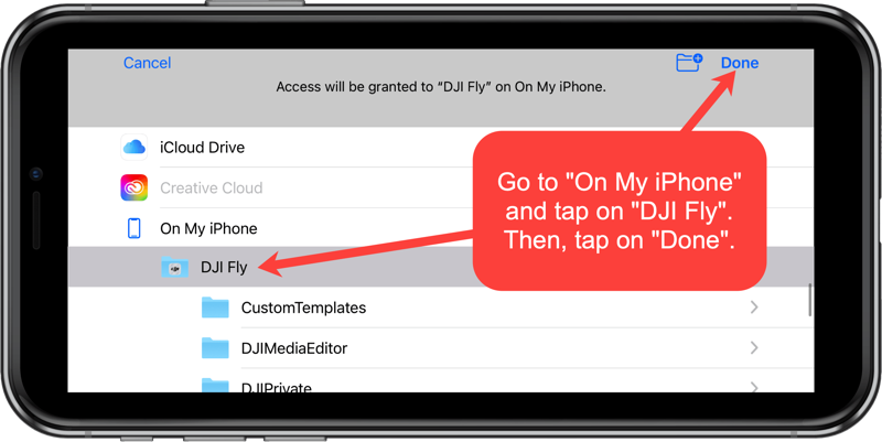 airdata permissions for dji fly